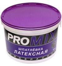 """Шпаклевка """"PROMIX"""" латексная 15кг(пакет) - фото 4579"""