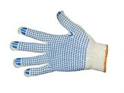 Перчатки х/б с ПВХ 4 нитки Белые